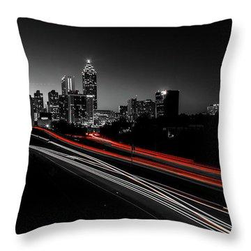 Atlanta Black And White Throw Pillow