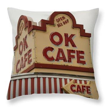 Atlanta Classic Ok Cafe Atlanta Restaurant Art Throw Pillow