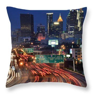 Atlanta Heavy Traffic Throw Pillow