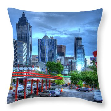 Atlanta Landmark The Varsity Art Throw Pillow