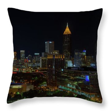 Atlanta Nights Throw Pillow