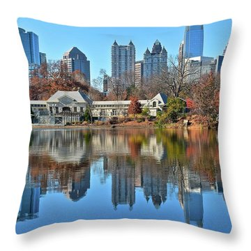 Atlanta Reflected Throw Pillow