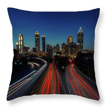 Atlanta Skyline 1 Throw Pillow