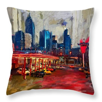 Atlanta Skyline 231 1 Throw Pillow