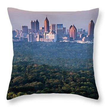 Atlanta Skyline Throw Pillow