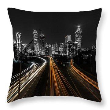 Atlanta Tones Throw Pillow