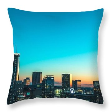 Atlanta Tonight Throw Pillow