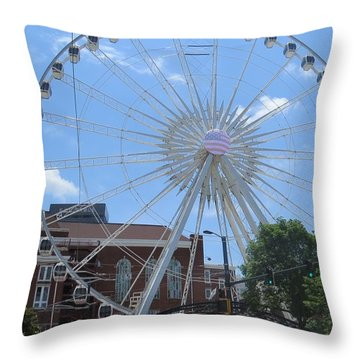 Throw Pillow featuring the photograph Atlanta Wheel by Aaron Martens