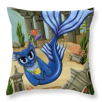Atlantean Mercat Throw Pillow