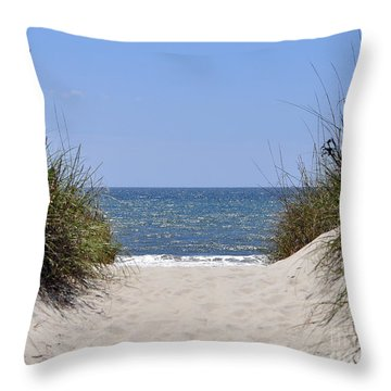 Atlantic Access Throw Pillow by Al Powell Photography USA