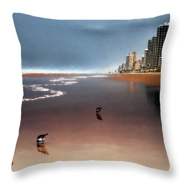 Atlantic Beach Throw Pillow by Jim Hill