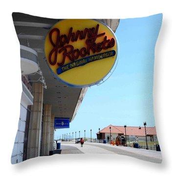 Atlantic City Boardwalk Throw Pillow by Allen Beilschmidt