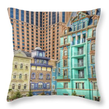 Throw Pillow featuring the photograph Atlantic City Boardwalk by Matthew Bamberg