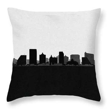 Atlantic City Cityscape Art Throw Pillow