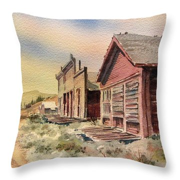 Atlantic City Ghost Town Wyoming Throw Pillow by Kevin Heaney