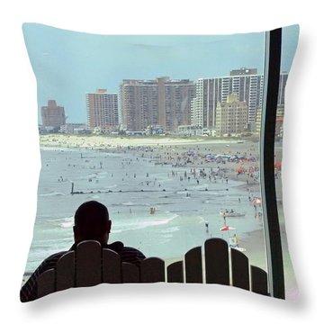 Atlantic City  Nj U.s.a. Throw Pillow by Allen Beilschmidt