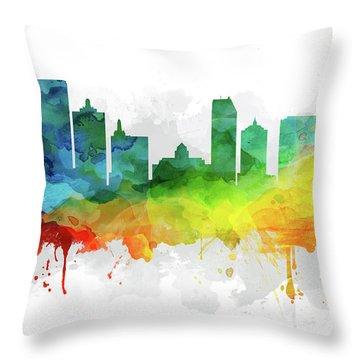 Atlantic City Skyline Mmr-usnjac05 Throw Pillow