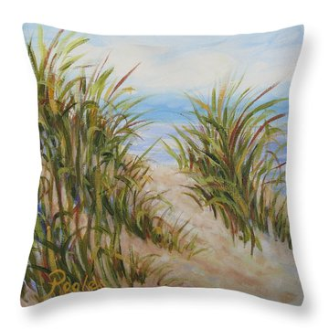 Atlantic Dunes Throw Pillow