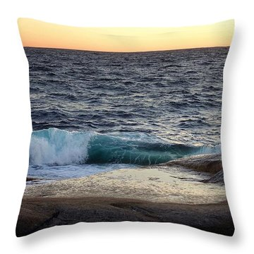 Atlantic Ocean, Nova Scotia Throw Pillow
