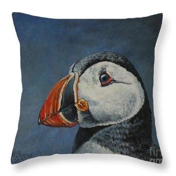 Atlantic Puffin Throw Pillow