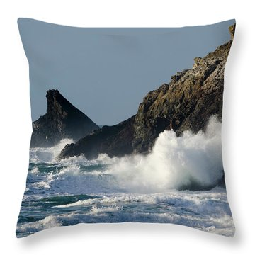 Atlantic Splash Throw Pillow by Steev Stamford