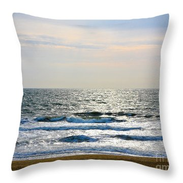 Atlantic Sunrise - Sandbridge Virginia Throw Pillow
