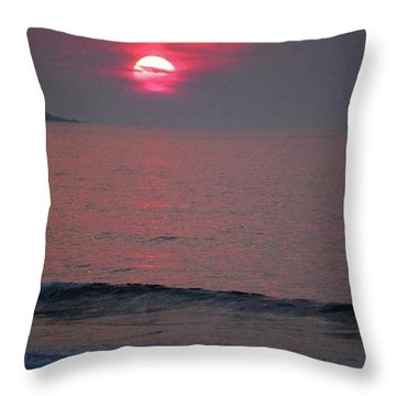 Atlantic Sunrise Throw Pillow by Sumoflam Photography