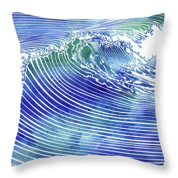 Atlantic Waves Throw Pillow