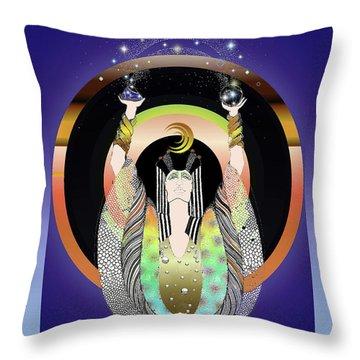 Atlantis - Copper Ring Energy Alchemy Throw Pillow
