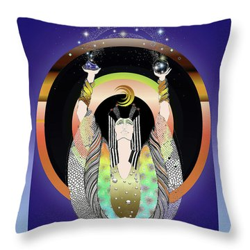 Atlantis - Copper Ring Energy Alchemy Throw Pillow