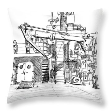 Atlantis II Fantail Throw Pillow