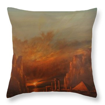 Atlantis Throw Pillow by Tom Shropshire