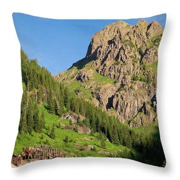 Throw Pillow featuring the photograph Atlas Mine by Steve Stuller