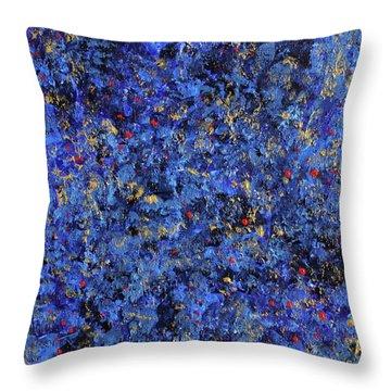 Atmospheric Blue 201750 Throw Pillow by Alyse Radenovic