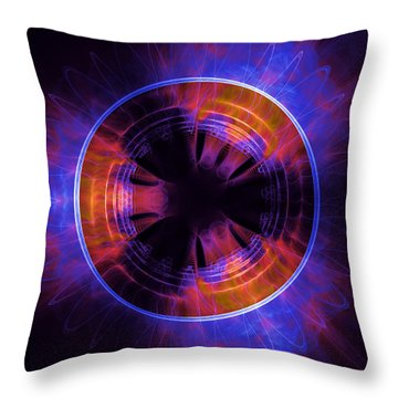 atmospheric Burner with Gas Flames Throw Pillow