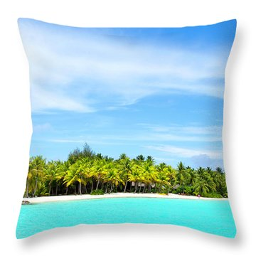 Atoll Throw Pillow by Sharon Jones