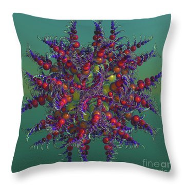 Atomic Design Throw Pillow by Deborah Benoit