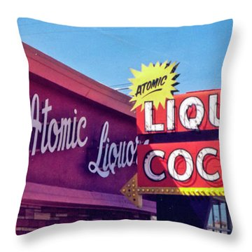 Atomic Liquors Throw Pillow