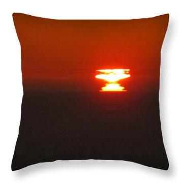 Atomic Sunset Throw Pillow