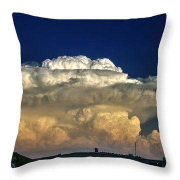 Atomic Supercell Throw Pillow