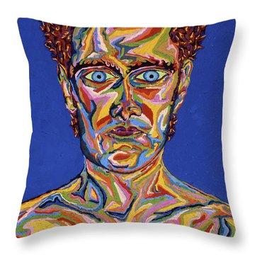 Atomic Visions - Self Portrait Throw Pillow by Robert SORENSEN