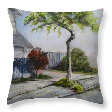 Atree Grows In Eureka Throw Pillow