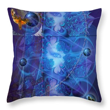 Atropos' Lament Throw Pillow by Kenneth Armand Johnson