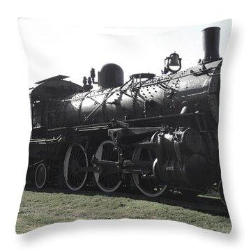 Atsf 2-6-2 Locomotive 1079 Diminished Throw Pillow