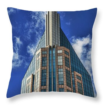 Throw Pillow featuring the photograph Att Nashville by Stephen Stookey