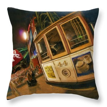 Att Park At Night Throw Pillow