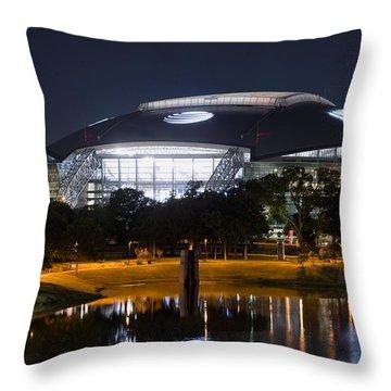 Dallas Cowboys Stadium 1016 Throw Pillow