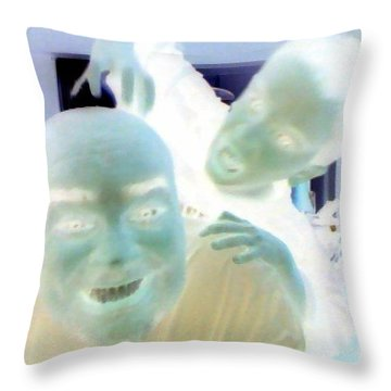 Attack Of The Kid Throw Pillow