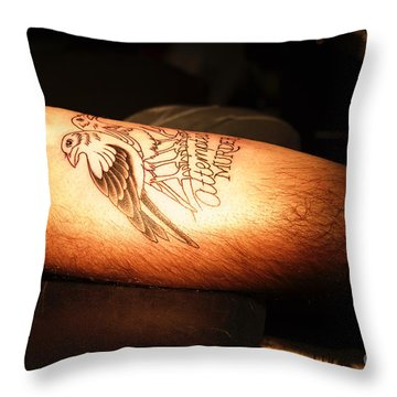 Attempted Murder Throw Pillow by Vinnie Oakes