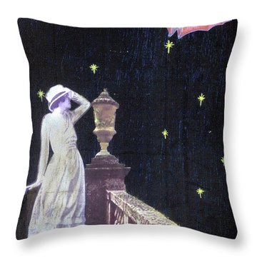 Throw Pillow featuring the mixed media Attempted Pick Up by Desiree Paquette